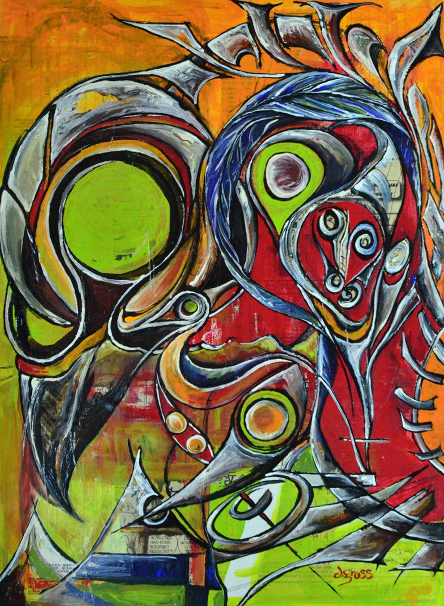 Raven Skull No 4